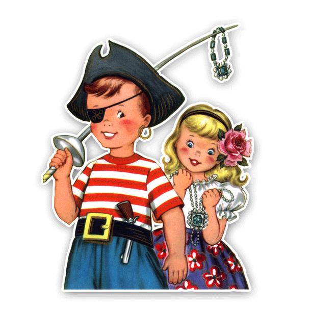 Vintage Diecut   Jack and Julia