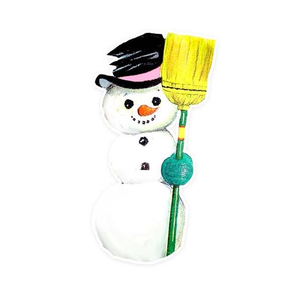 Vintage Die-Cut | Snowman #8