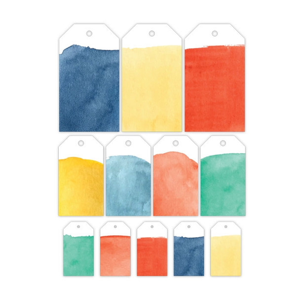 Die-Cuts | Watercolor Tags