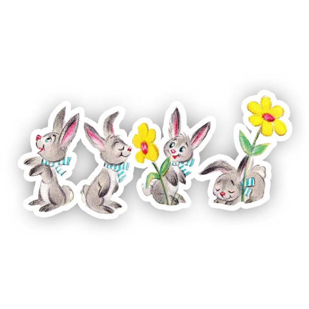 Vintage Die-Cut | Cottontail Bunnies
