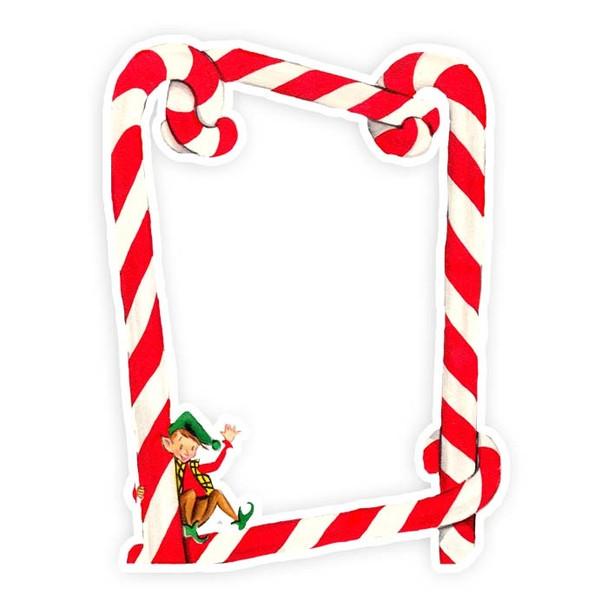 Die-Cut | Candy Cane Frame | 3x4