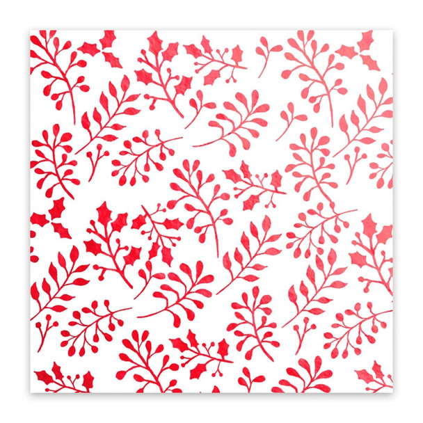 Metallic Vellum | Holly Berries | Red