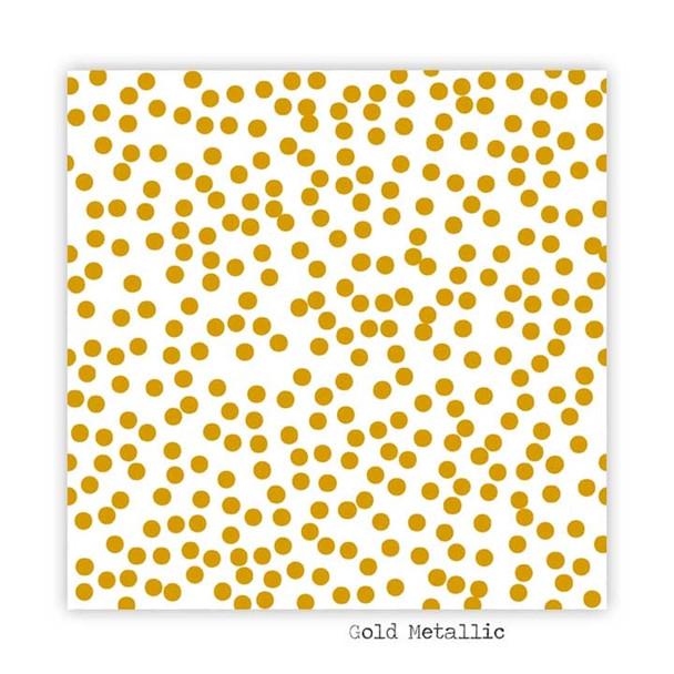 Metallic Clear | Snowfall | Gold