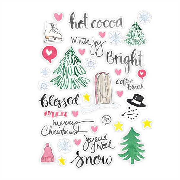 Die-Cuts | Snow & Hot Cocoa