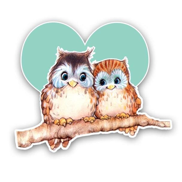 Vintage Diecuts   Owl Valentine