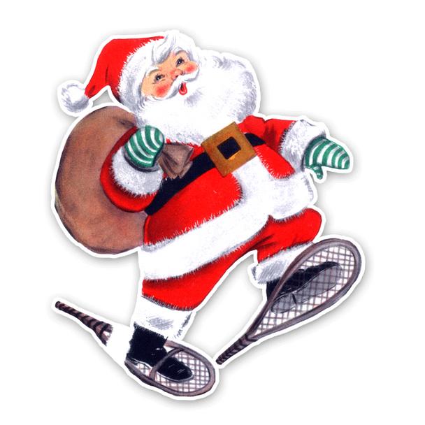 Vintage Diecut | Santa Snow Shoes