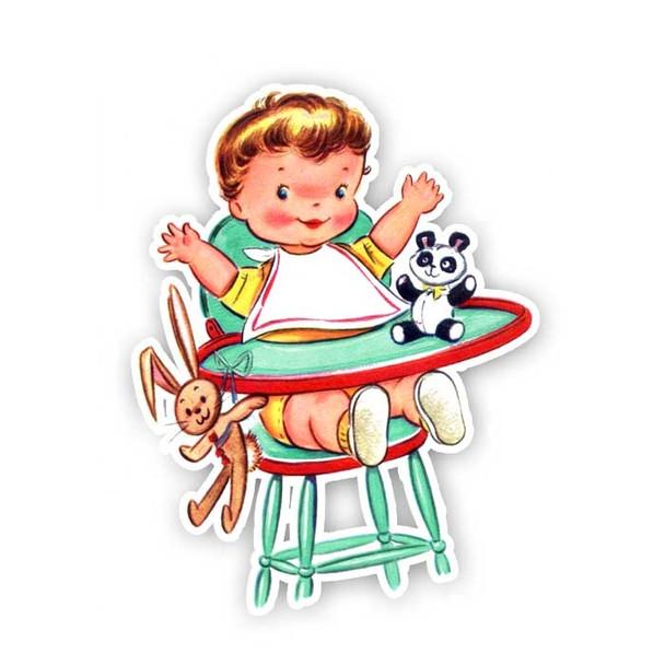 Vintage Die-cuts   Baby Nathan