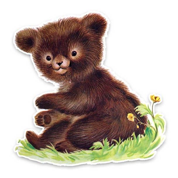 Vintage Diecut | Barney the Bear