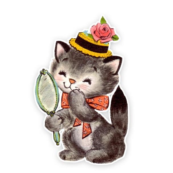 Vintage Die-Cut   Julip Kitty