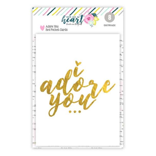 Journaling | GOLD | Adore You 3x4
