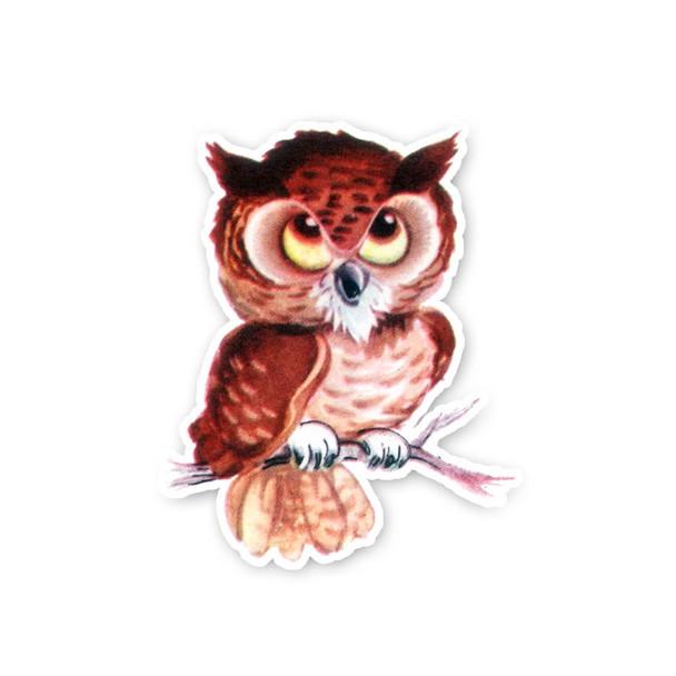 Vintage Die-Cut | Taffy Owl
