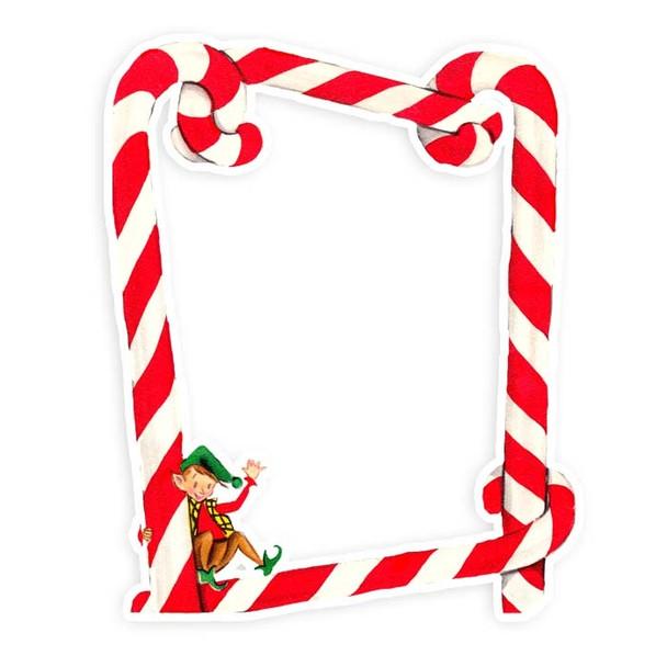 Die-Cut   Candy Cane Frame   5x6