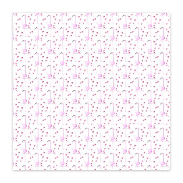 Vellum | Flamingo Hearts 8x8