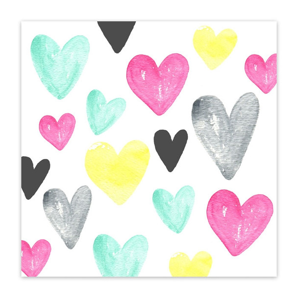 Clear   Hearts 8x8