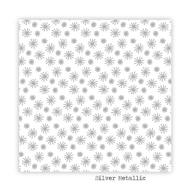 Metallic Paper   Snowflake   Silver
