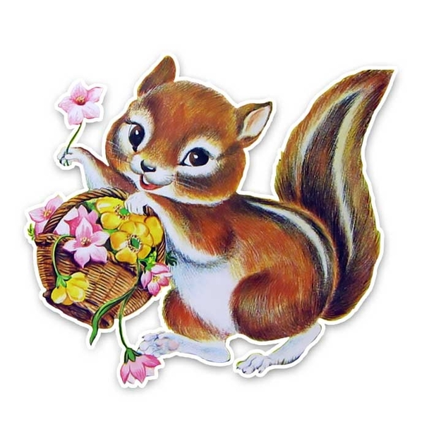 Vintage Die-Cut | Gilly Squirrel