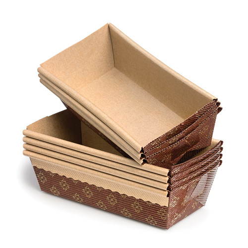 Product Photo 1 Regular Bakeable Paper Loaf Pans - Set of 12
