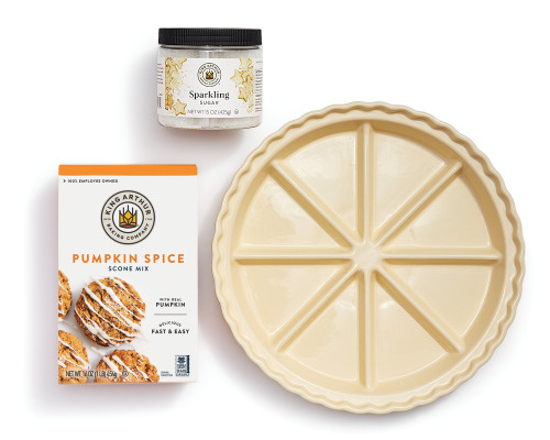 Product Photo 1 Pumpkin Spice Scone Mix & Ceramic Scone Pan Set
