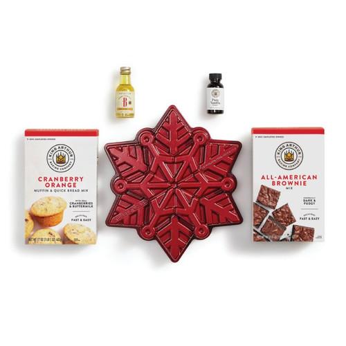 Snowflake Cake Pan & Mixes Set Product Photo 1