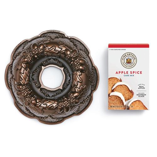 Product Photo 1 Apple Spice Cake Mix and Autumn Wreath Bundt Pan Set