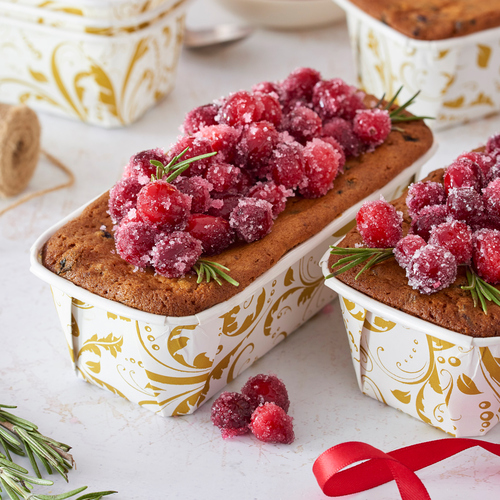 Product Photo 2 Gold Filigree Bakeable Paper Loaf Pans - Set of 12