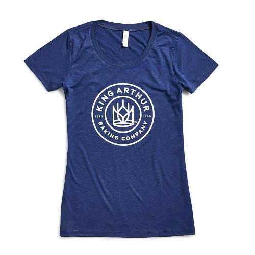 Product Photo 1 Ladies Slim Fit Round King Arthur Logo Tee - Blue