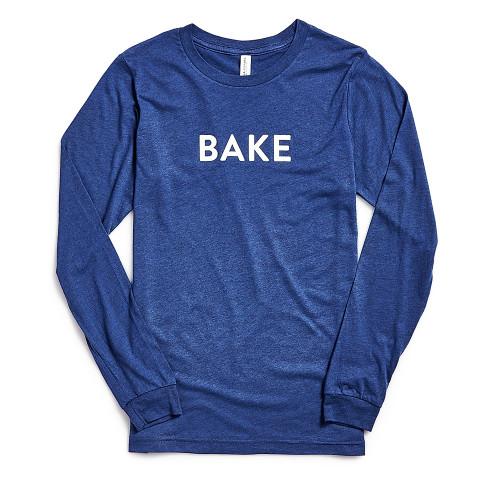 Product Photo 1 Unisex Long Sleeve Bake Tee - Blue
