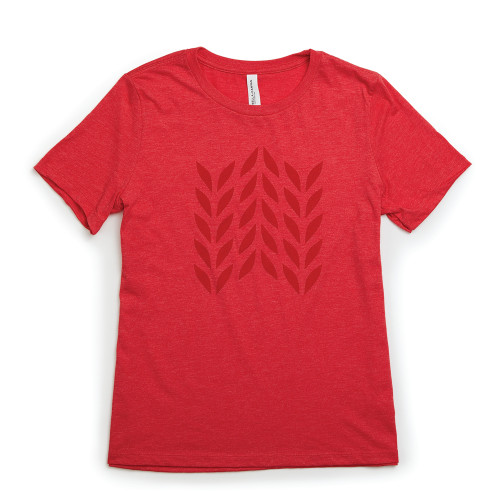 Product Photo 1 Ladies Relaxed Fit Wheat Plait Tee - Red