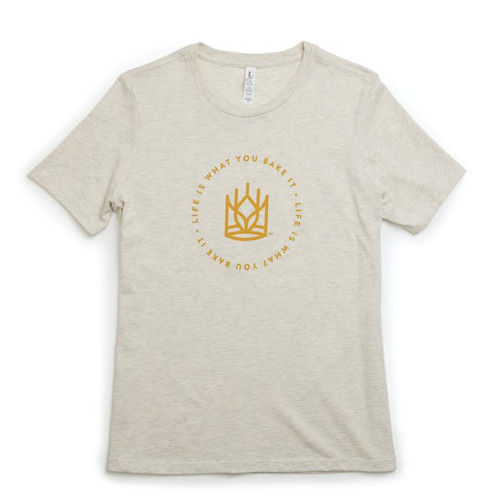 Product Photo 1 Ladies Relaxed Fit Life Is Tee - Oatmeal