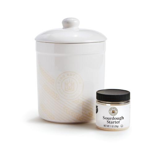 Product Photo 1 Fresh Sourdough Starter and Wheat Patterned Crock Set