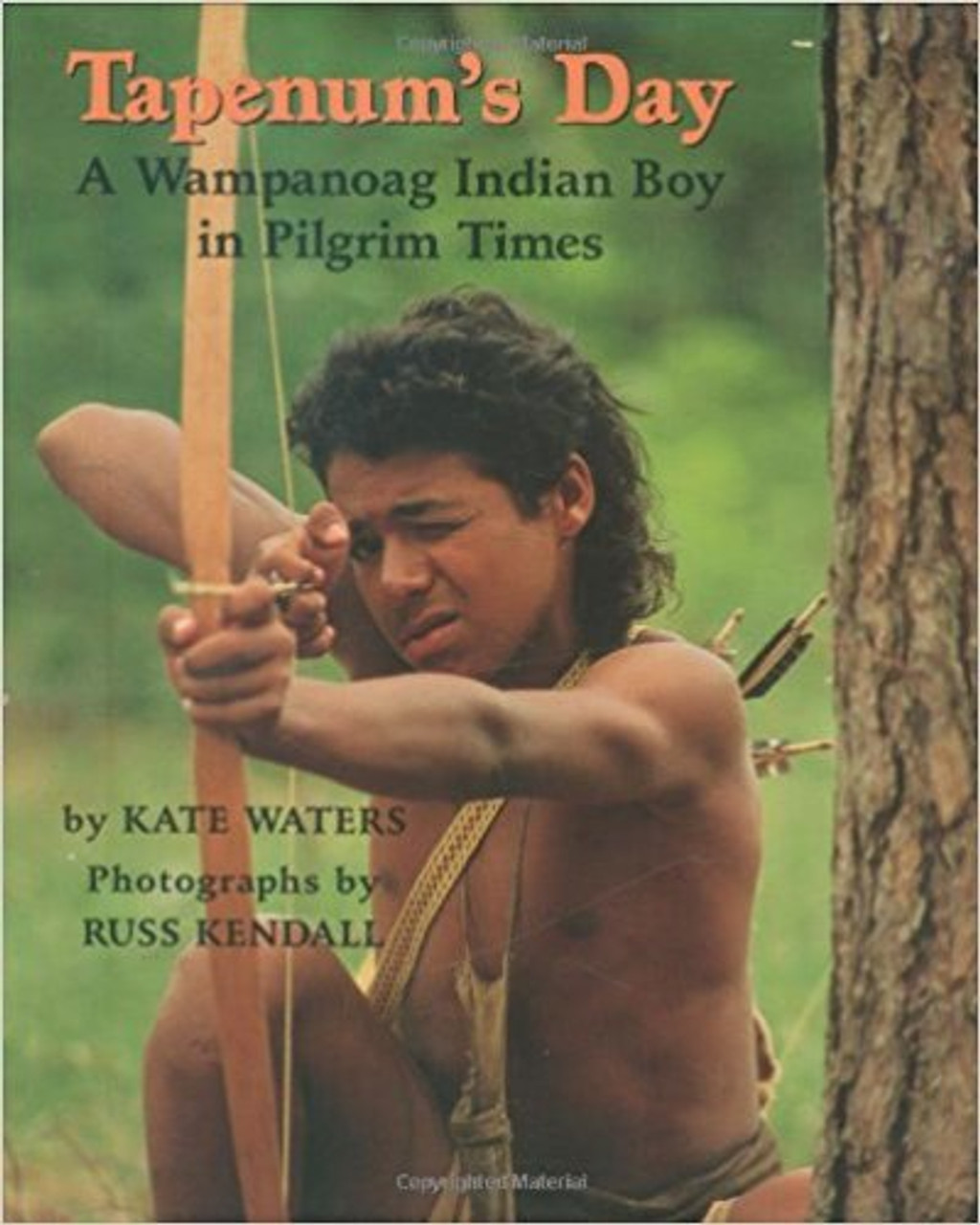 Chosen to become a special warrior prince in 1627, Tapenum prepares himself for the great honor by hunting, fishing, and sharing a day with friends and family, in a story that is complemented by photographs of Plymouth Plantation.