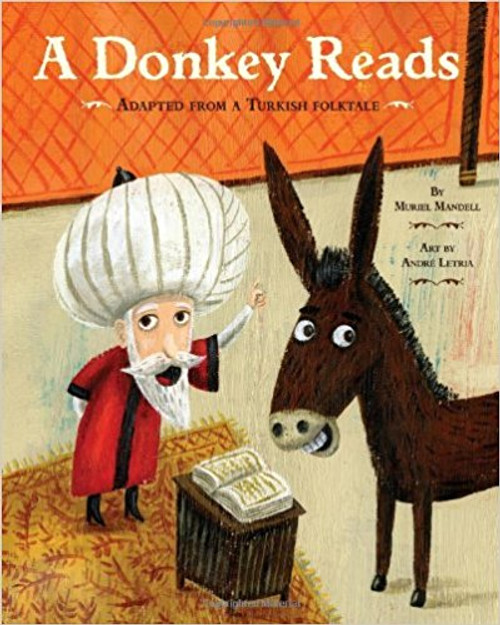 A Donkey Reads (Hard Cover) by Muriel Mandell