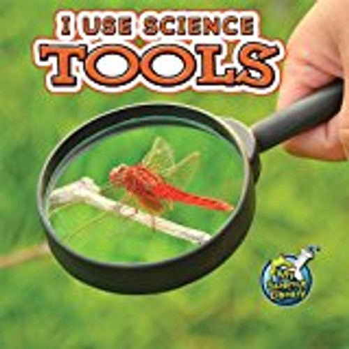 <p>Emergent readers explore various scientific tools such as a microscope, magnifying glass, and ruler</p>