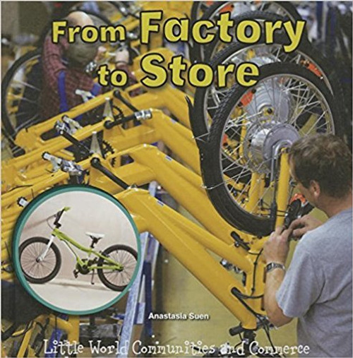 Where do bicycles come from? Bicycles don t grow on trees or in the ground, they are created with the help of many people. From the designer who draws out the bike plans, to the assembly worker who puts the parts together, to the shop owner who sells the bike. There are many steps in place to make sure you get a well-constructed bicycle to ride. Filled with photographs with captions, informational sidebars, and simple, sequenced text, children with see the importance of each step of the process. This title allows students to describe the relationship between the illustrations and the text.