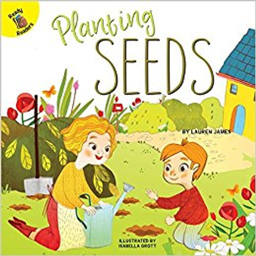 The girl wants to plant seeds with her mother. But the watering can has a hole in it. How will she water her seeds?