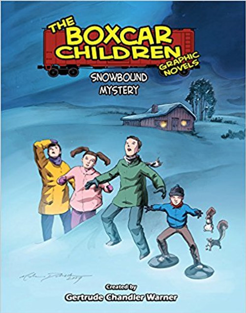 Henry, Jessie, Violet, and Benny are on a fall vacation in the woods, but suddenly a snowstorm hits. While they're trapped in their cabin they discover a strange message written in code hidden in a secret spot! Who is the message fo