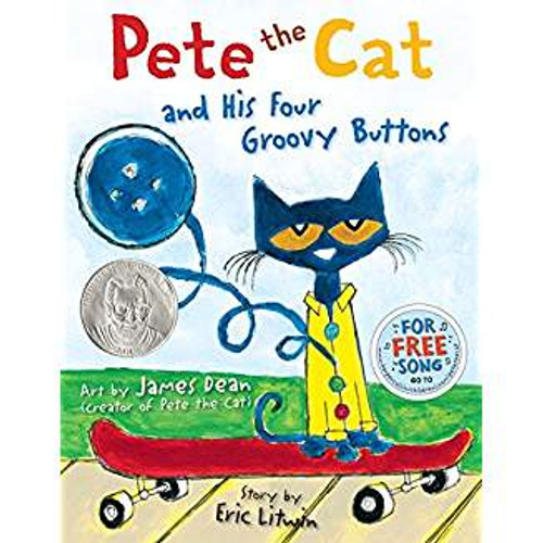 Pete the Cat is wearing his favorite shirt--the one with the four totally groovy buttons. But when one falls off, does Pete cry? Goodness, no! He just keeps on singing his song.