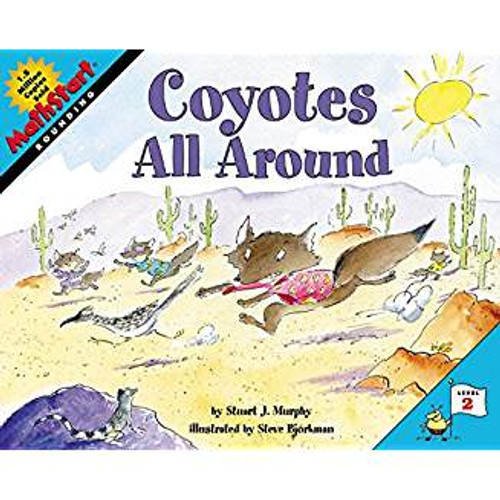 A pack of coyotes tries to determine how many roadrunners and other creatures are in their vicinity, and while some count different groups and add their totals together, Clever Coyote rounds off and estimates.