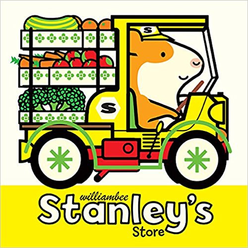 Welcome to Stanley's Store! Can Stanley help his friends find everything they need? Stanley has fresh fruits and veggies to be unloaded, Myrtle needs help at the cheese counter, Shamus and Little Woos groceries must be rung up, andoh no! Charlie just knocked over Stanley's produce display. Even for an industrious hamster like Stanley, running a store is hard work! Stanley's Store invites young readers to explore grocery store processes, colors, and machines in a sweet, simple world. With bright illustrations, adorable characters, and a chunky padded-cover format, William Bees Stanley series is perfect for readers transitioning from board books to picture books.