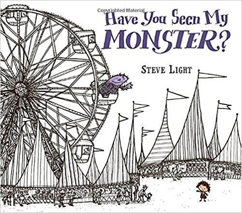 Invites young readers to identify shapes while helping a small girl search the fair for her pet monster.