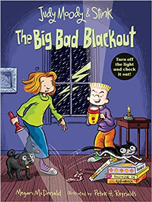As Hurricane Elmer hits, Judy, Stink, and the entire Moody clan hunker down and ride out the storm, but when the power goes out, Grandma Lou proposes some activities to pass the time in the dark.