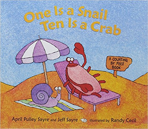 A bunch of fun-loving crabs, lounging dogs, gleeful insects, and bewildered-looking snails obligingly offer their feet for counting in a number of silly, surprising combinations--from one to 100.