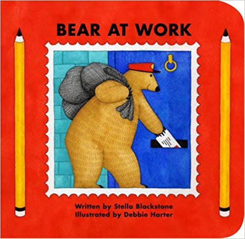 A bear happily spends a busy day delivering letters and packages, and the reader is invited to guess the jobs of the bears he sees around town.
