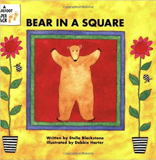 Share the adventure of a big, friendly bear as he roams through all sorts of crazy settings, discovering different shapes along the way. 'Bear in a Square' is designed to offer young children practice in both counting and shape recognition.
