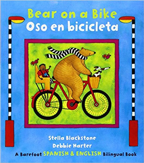 Bear introduces various modes of travel in a snappy rhyme. Young readers are invited to anticipate Bear's next new location as he explores by bicycle, raft, train, boat, carriage, and rocket.  Bilingual Edition.