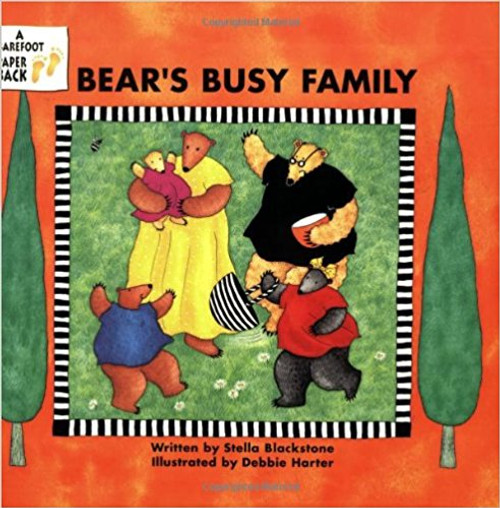 A young bear narrator introduces her grandma, grandpa, uncle, auntie, mommy, daddy, sister, brother, and cousins, and describes all the special things they do.