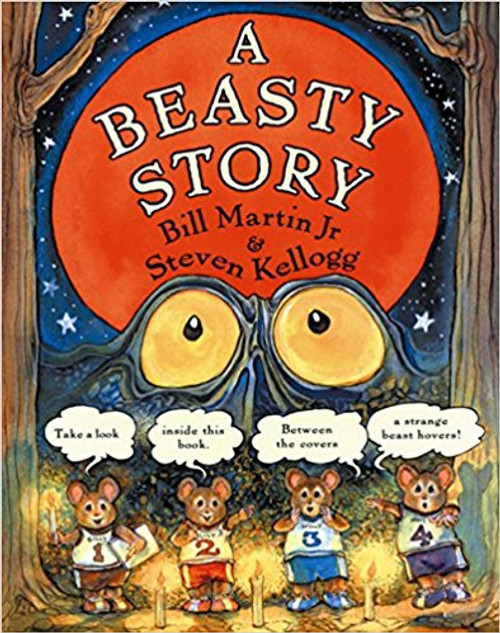 In a dark, dark house, in a dark, dark wood lurks a creepy, beasty . . . BEAST! But don't be scared--this beast may not be so beastly after all. The beloved Bill Martin Jr and Steven Kellogg bring their enormous talents together to create a ghoulish story that's both scary and snug.  Includes fun new book-related activities!