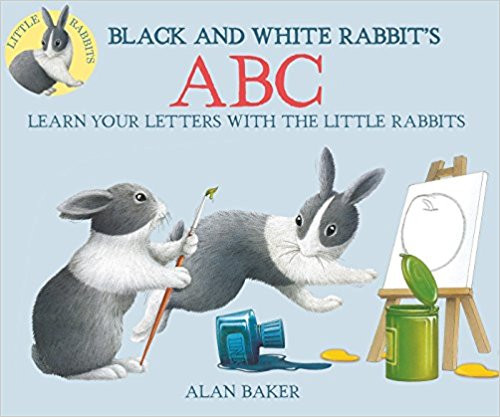 The story of a rabbit's exhausting efforts to paint a picture presents the letters of the alphabet.