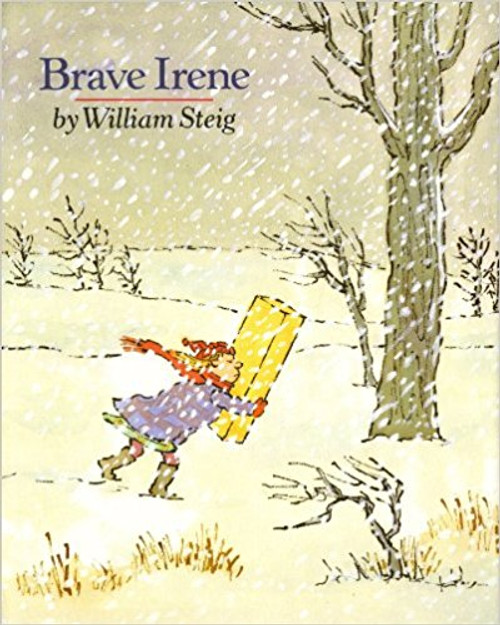 Brave Irene is Irene Bobbin, the dressmaker's daughter. Her mother, Mrs. Bobbin, isn't feeling so well and can't possibly deliver the beautiful ball gown she's made for the duchess to wear that very evening.  So plucky Irene volunteers to get the gown to the palace on time in spite of the fierce snowstorm that's brewing -- quite an errand for a little girl.  But, where there's a will, there's a way, as Irene proves in the danger-fraught adventure that follows.  She must defy the wiles of the wicked wind, her most formidable opponent, and overcome many obstacles before she completes her mission.  Surely, this winning heroine will inspire every child to cheer her on.