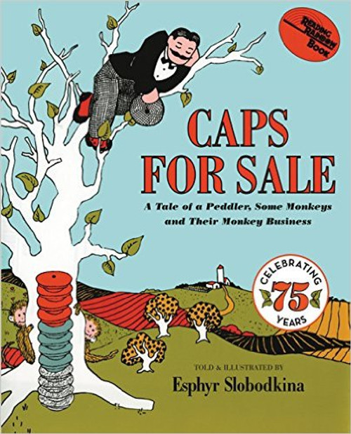 Caps for Sale is a timeless classic beloved by generations of readers--now celebrating its 75th anniversary! This story about a peddler and a band of mischievous monkeys is filled with warmth, humor, and simplicity and teaches children about problem and resolution. Children will delight in following the peddler's efforts to outwit the monkeys and will ask to read it again and again.